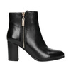 Leather high ankle boots bata, black , 694-6640 - 15