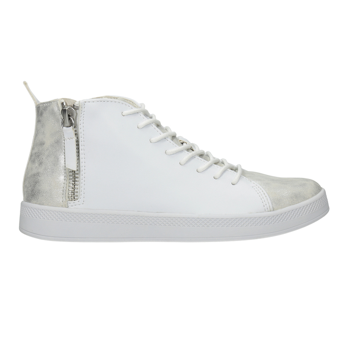 White High-Top Sneakers, white , 501-1172 - 26