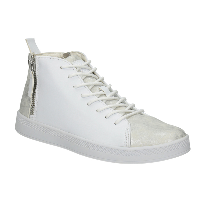 White High-Top Sneakers, white , 501-1172 - 13