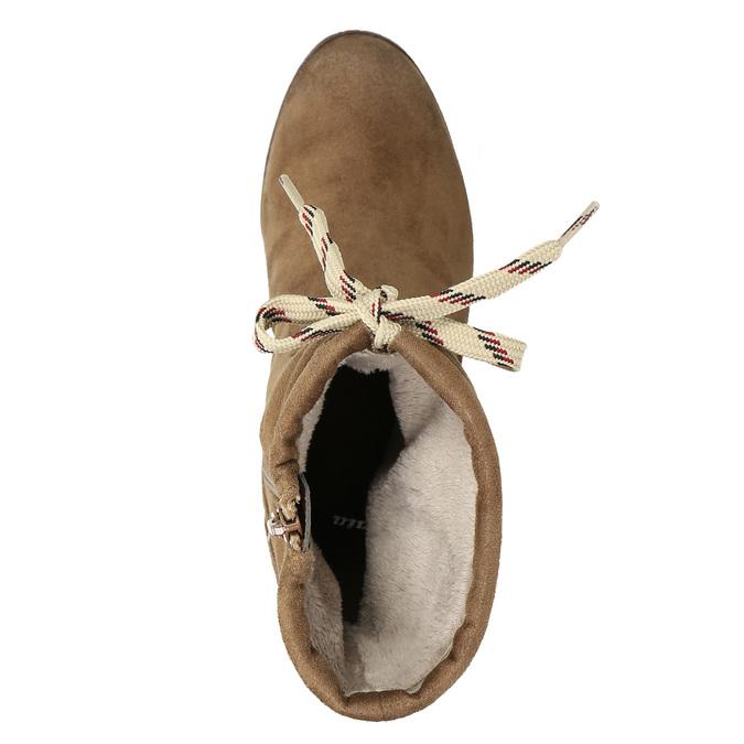 Brown heeled high boots bata, brown , 799-3613 - 26