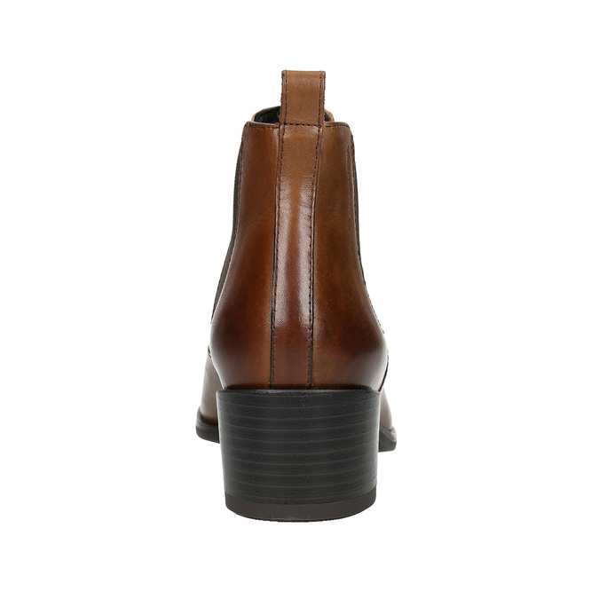 Ladies' leather heeled Chelsea boots vagabond, brown , 614-4020 - 17