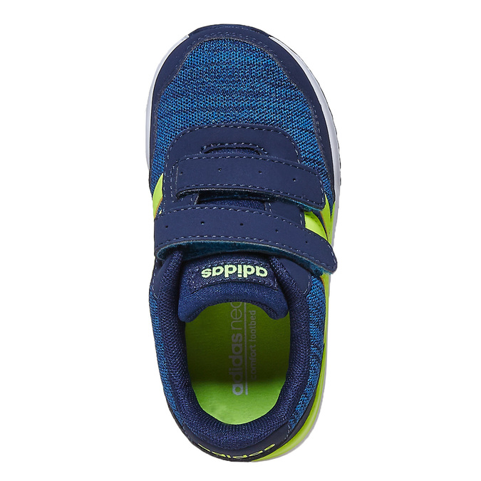 Children's Hook-and-Loop Sneakers adidas, blue , 109-9157 - 19