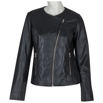 Ladies' Leather Jacket bata, black , 974-6177 - 13