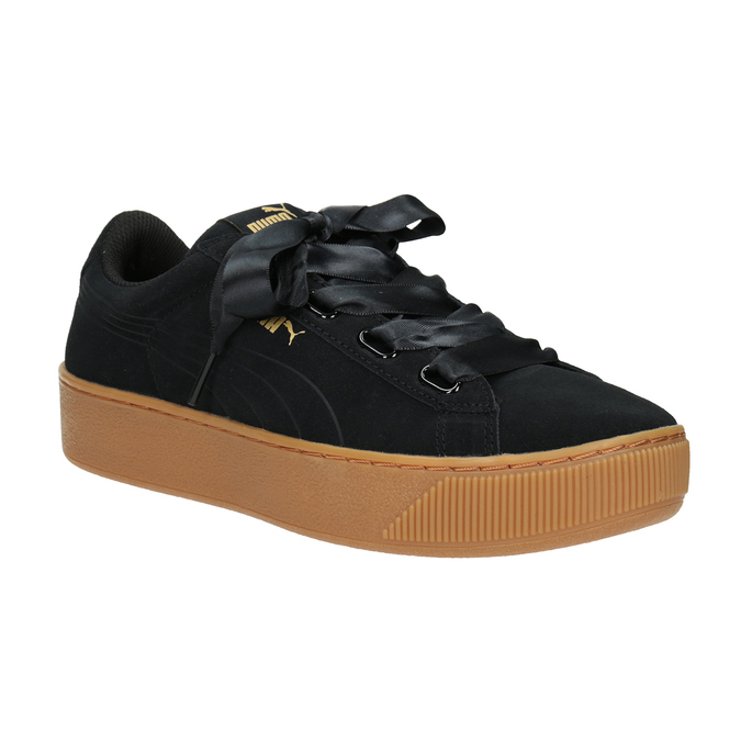 Ladies' Leather Sneakers puma, black , 503-6169 - 13