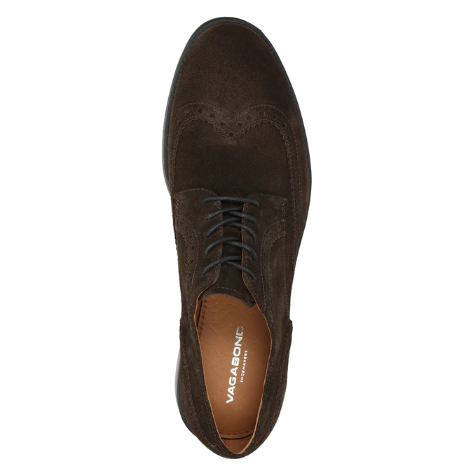 Men's Leather Brogue Lace-Ups vagabond, brown , 823-4017 - 15