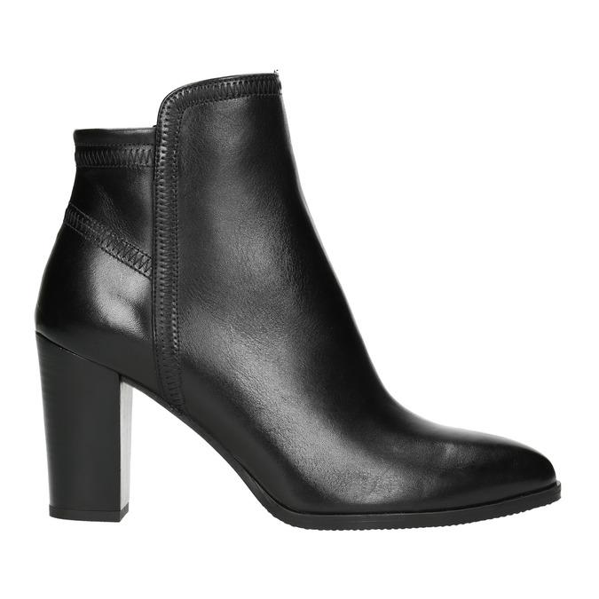 Ladies' Leather Ankle Boots bata, black , 794-6650 - 15