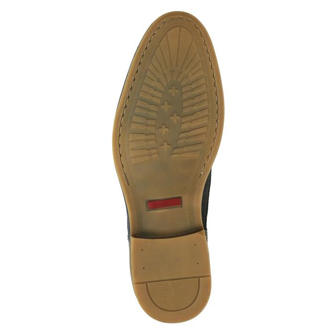 Men's leather ankle boots bata, blue , 826-9920 - 17