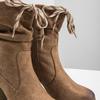Brown heeled high boots bata, brown , 799-3613 - 14