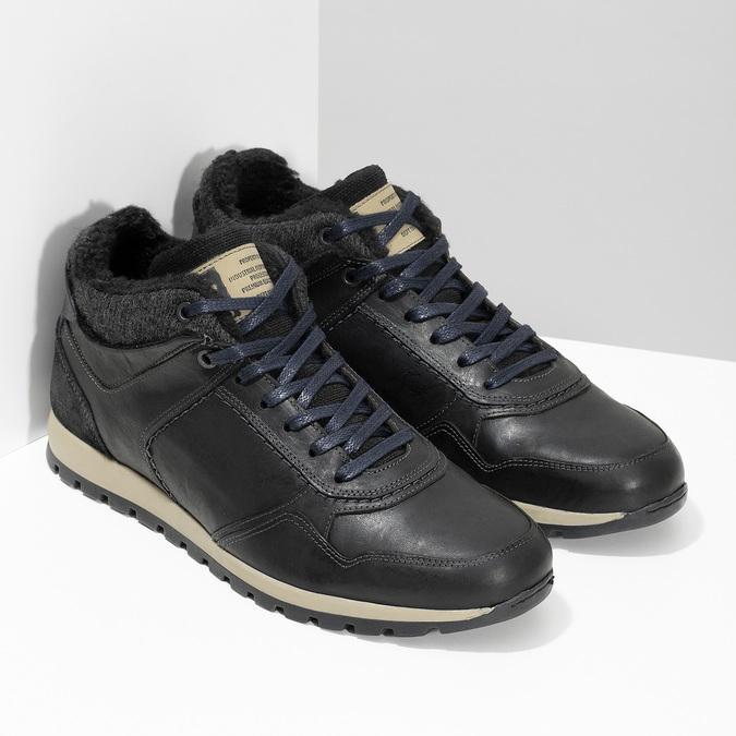 Men's Winter Sneakers bata, black , 846-6646 - 26