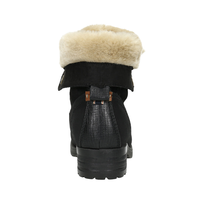 Ankle Boots with Fleece bata, black , 591-6618 - 17