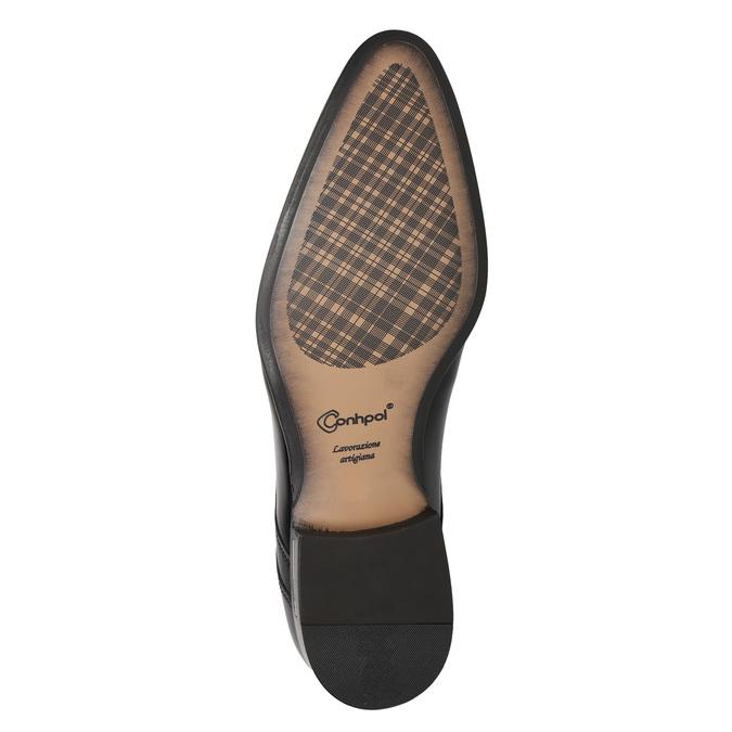 Men's leather shoes conhpol, black , 824-6994 - 17