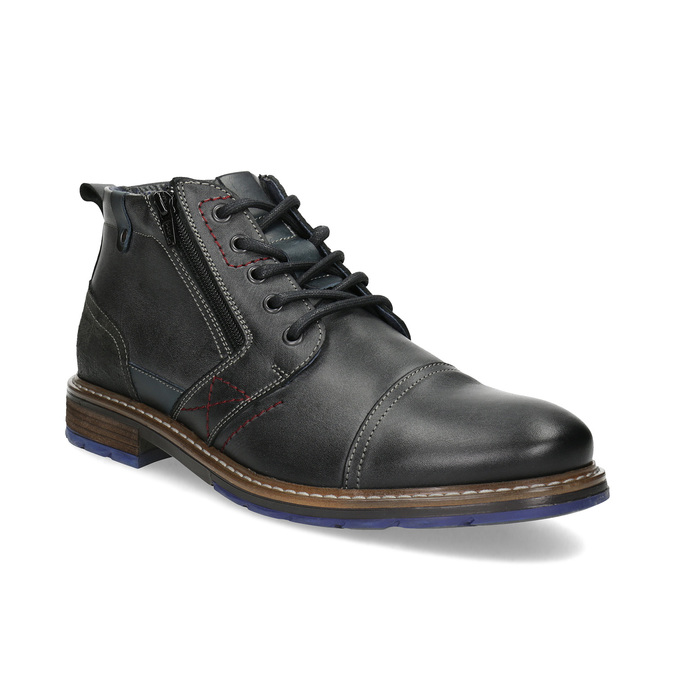 Leather Ankle Boots bata, gray , 896-2678 - 13