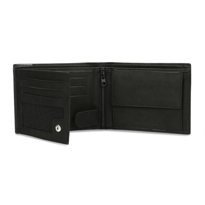Men's leather wallet bata, black , 944-6188 - 15