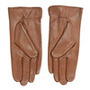 Brown leather gloves, brown , 904-3129 - 16