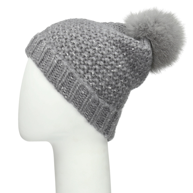 Furry Pompom Hat bata, multicolor, 909-0152 - 16