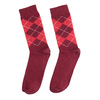 Men's Socks with an English Pattern bata, red , 919-5300 - 26