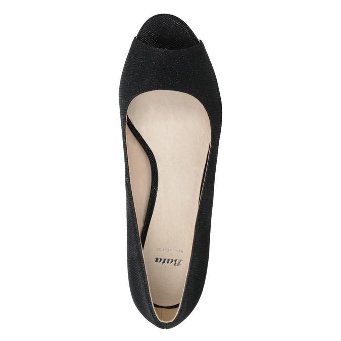 Peep-Toe Pumps bata, black , 729-6610 - 15