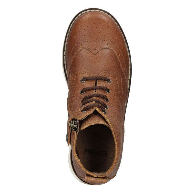 Children's leather ankle boots primigi, brown , 314-3004 - 17