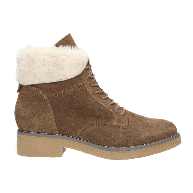 Ladies' Winter Boots with Fleece bata, brown , 593-4607 - 26