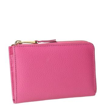 Pink Leather Wallet bata, pink , 946-5284 - 13