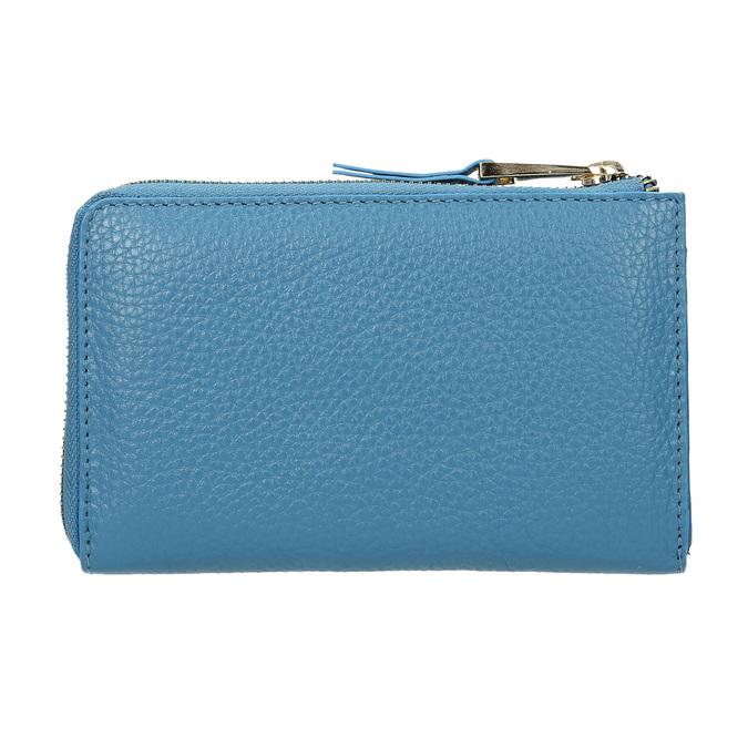 Blue Leather Wallet bata, blue , 946-9284 - 16