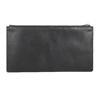 Black leather clutch bata, black , 966-6285 - 15