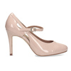 Pinkish cream-colored pumps with cut-outs insolia, pink , 721-8614 - 19