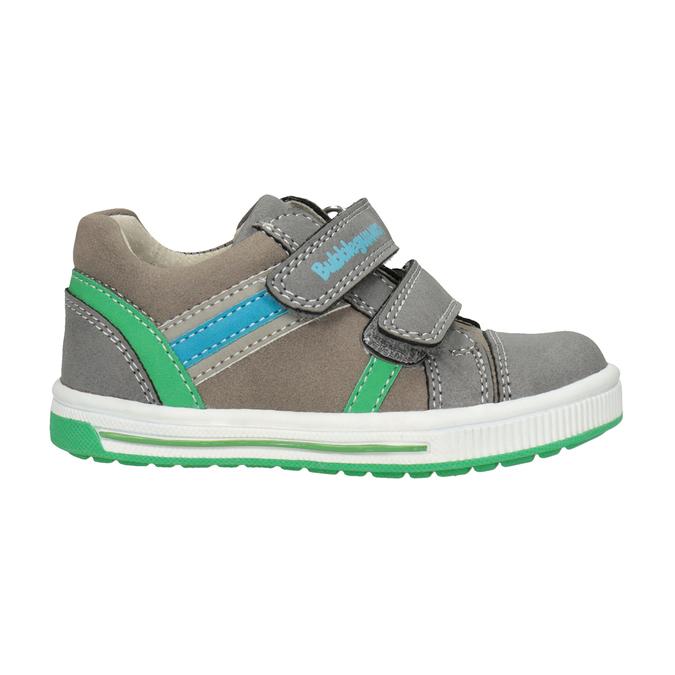 Girls' sneakers with Velcro bubblegummer, gray , 111-2625 - 26