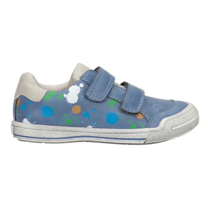 Blue sneakers with print mini-b, 211-9218 - 26