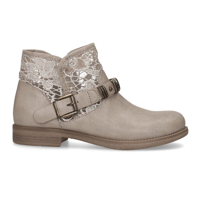 Ladies' ankle boots with lace bata, gray , 591-2628 - 19