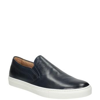 Men's Leather Slip-Ons bata, blue , 836-9601 - 13