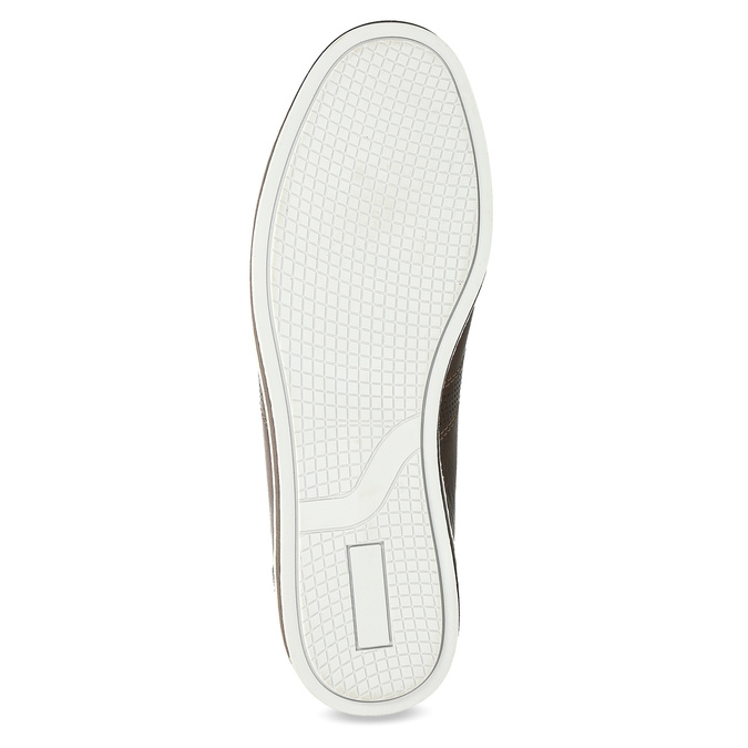 Men's leather sneakers bata, brown , 846-4617 - 18