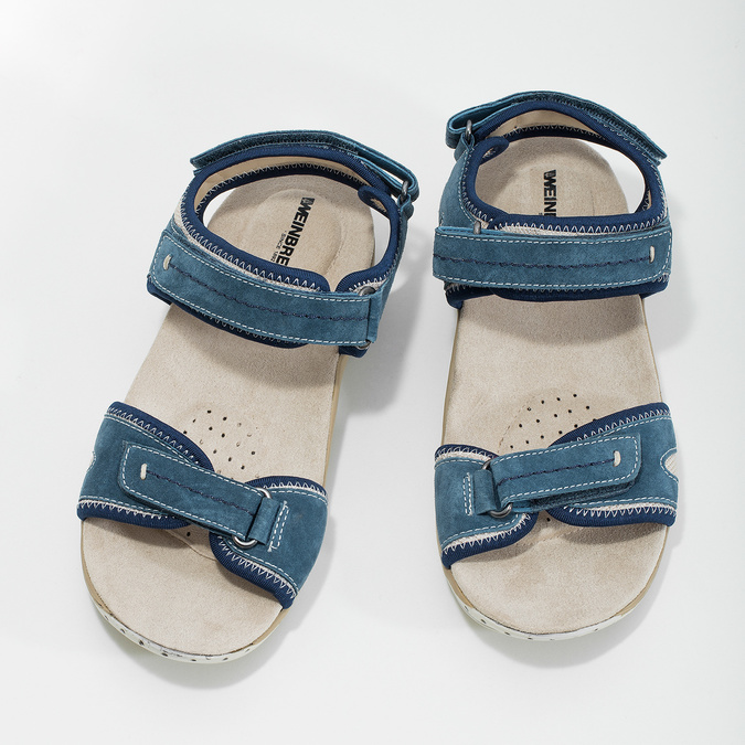 Ladies' leather sandals weinbrenner, blue , 566-9608 - 16