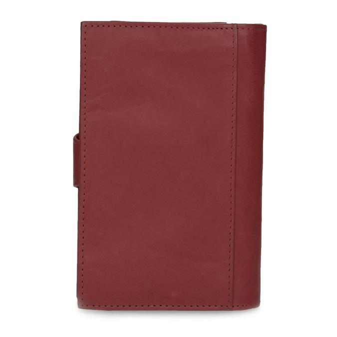 Ladies' leather purse bata, red , 944-5155 - 16