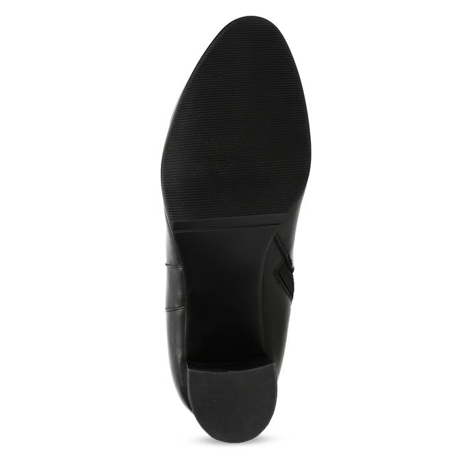 Ladies' Leather High Boots bata, black , 694-6639 - 18